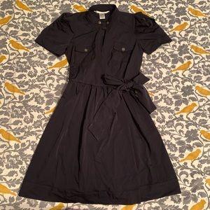 Diane von Furstenberg Navy Wrap Dress NWOT Size 4